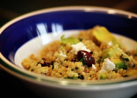 Quinoa with Pine Nuts and Kalamata Olives