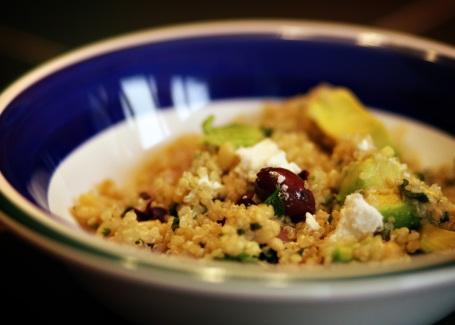 Quinoa with Pine Nuts and Kalamata Olives